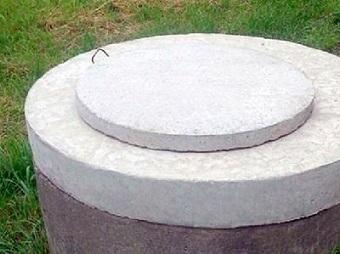 Бетонная крышка на колодец: железобетонная конструкция (фото)