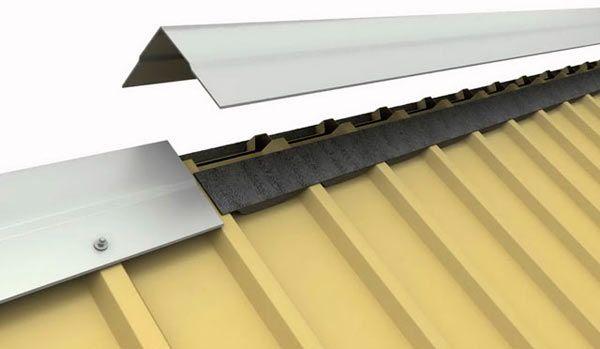 Уплотнитель под конек металлочерепицы — какой бывает?стройкод