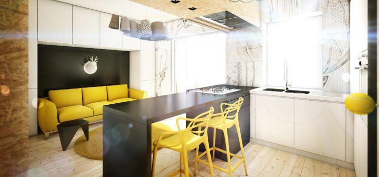 дизайн кухни 16 м2