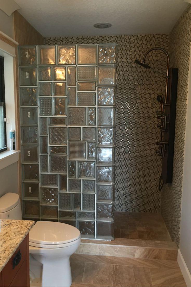 стеклянные блоки в интерьере