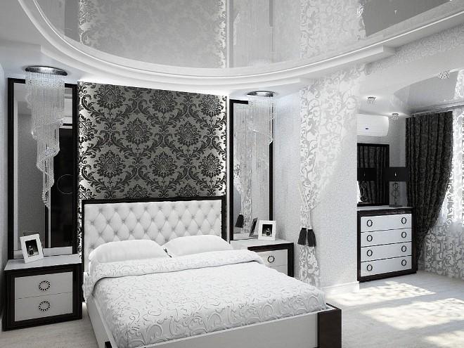 Белые обои (79 фото): в интерьере гостиной с серебристым рисунком и с красно-белым узором, выбираем под камень для стен и с золотом под мебель