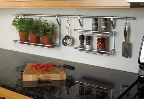 Рейлинги для кухни: функциональная система для современных кухонь (90+ реальных фото)