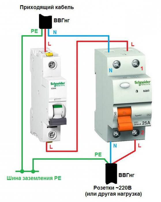 Способы соединения автоматов в распределительном щитке