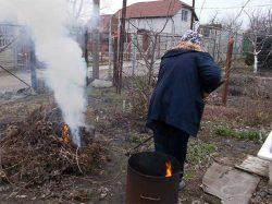 сжигание мусора во дворе частного дома закон