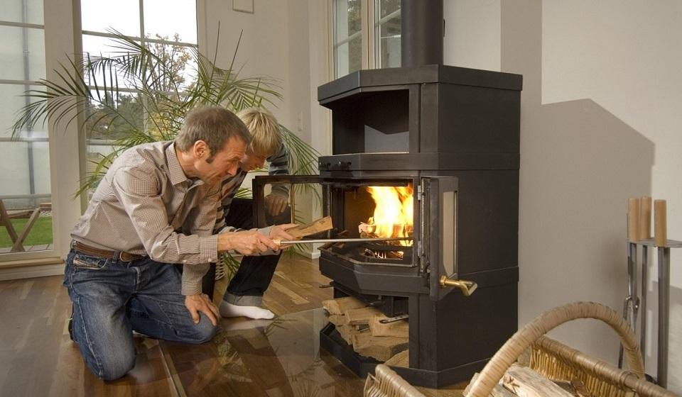 Печи для дома на дровах длительного горения с водяным контуром.