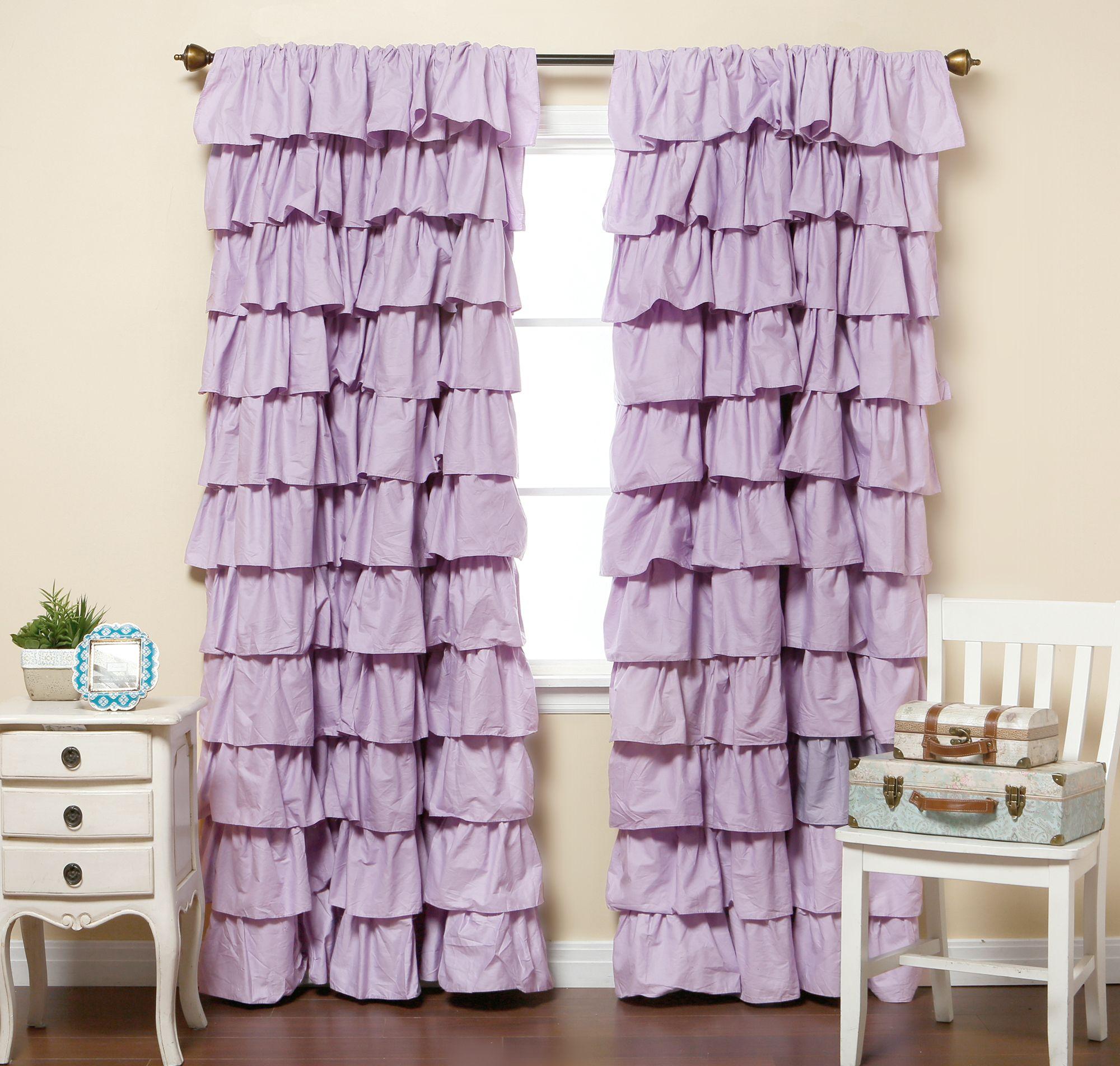 лиловые шторы на кухню