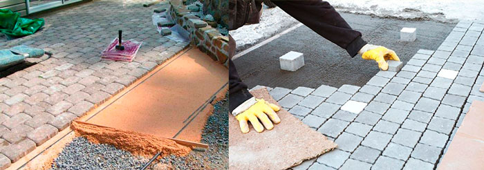 как правильно укладывать тротуарную плитку своими руками