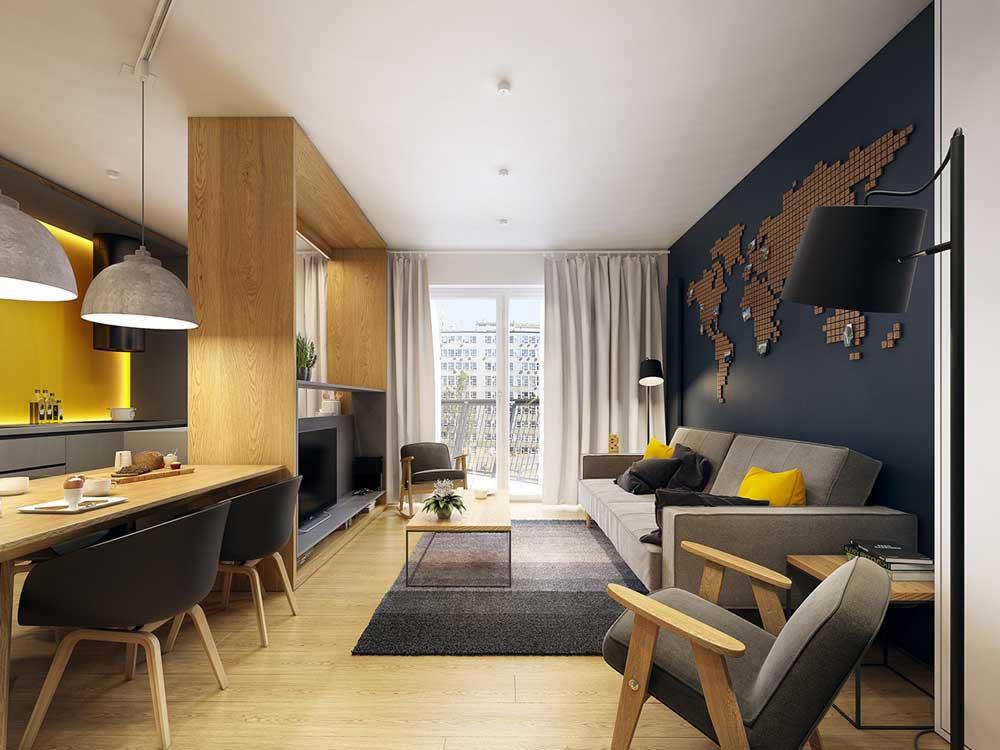Современный зал в обычной квартире: 30 фото и идеи для ремонта
