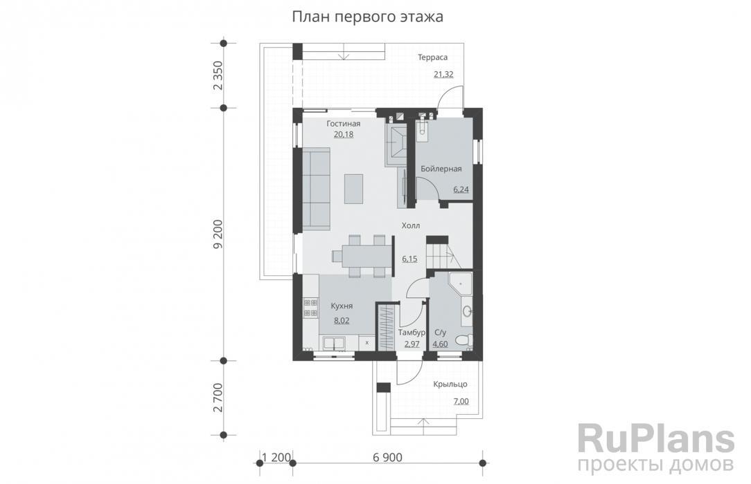 планировка дома 6 на 10