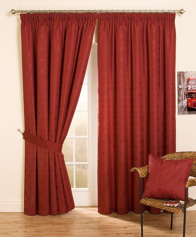 Красные шторы в интерьере гостиной — фото примеров   блог о ремонте и дизайне интерьера