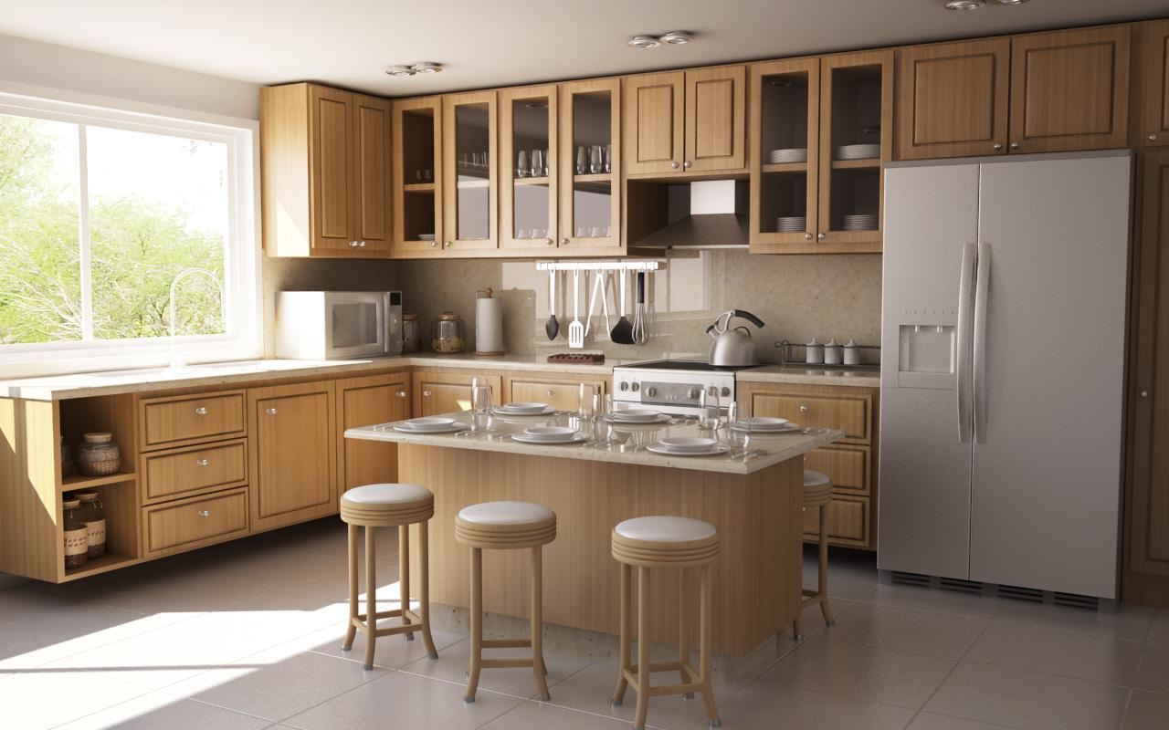 На какой высоте вешать кухонные шкафы: подробная информация