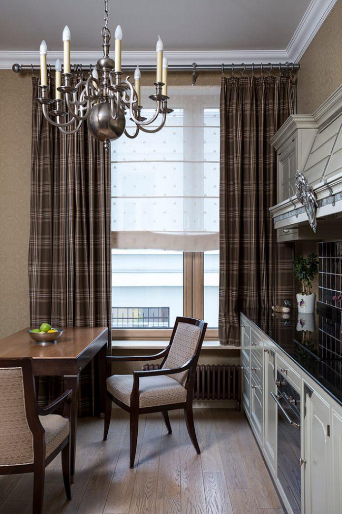 Ночные шторы (51 фото): занавески для зала и на кухню, красивый дизайн моделей на одну сторону