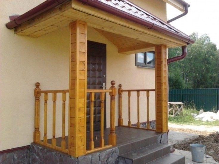 дизайн входа в частный дом