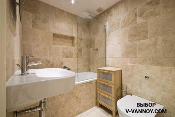 имитация плитки в ванной