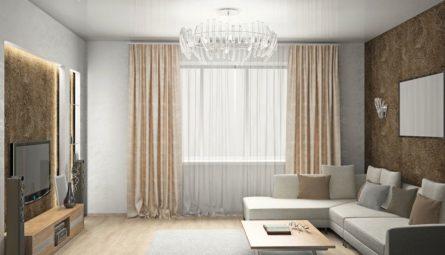 Двухуровневые потолки из гипсокартона для гостиной: дизайн зала
