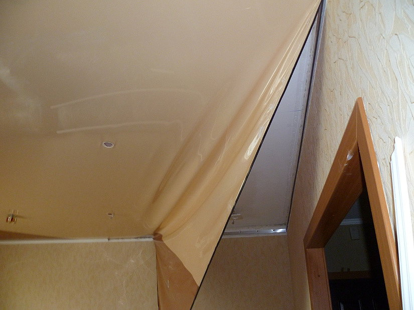 Как снять натяжной потолок своими руками: 90 фото и видео пошаговая инструкция по демонтажу
