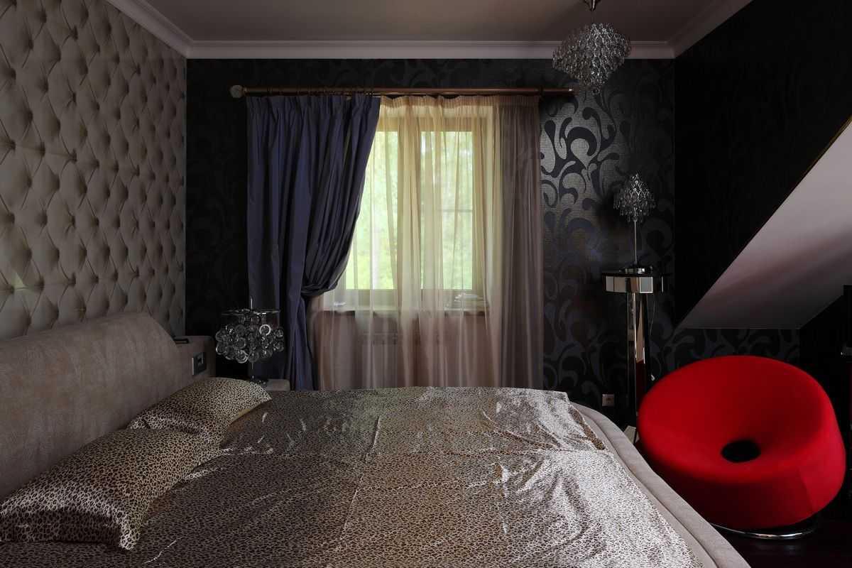 Цвет штор в спальне (64 фото): серые, бирюзовые и бежевые, фиолетовые и зеленые, синие и голубые, розовые и коричневые, черно-белые