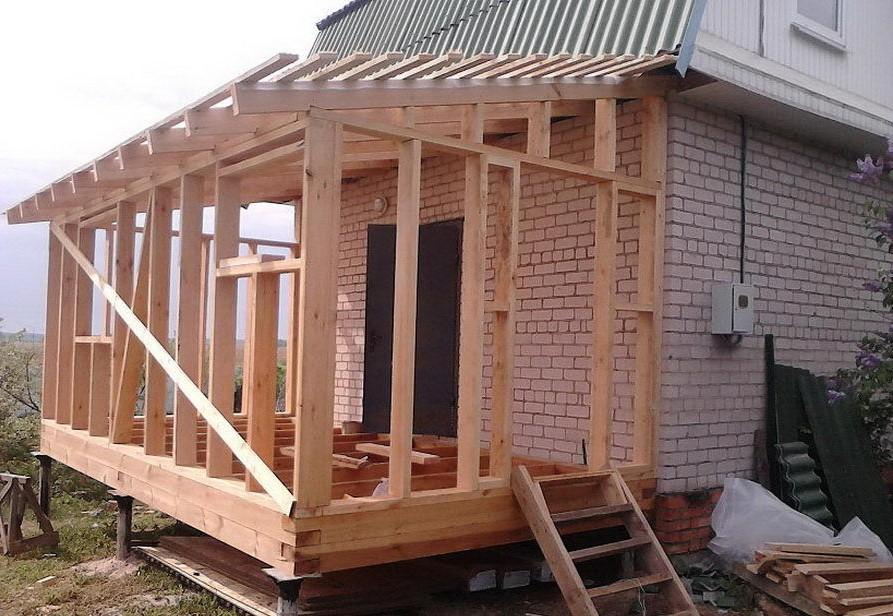 Пристройка к дому с ломаной крышей - кровля и крыша