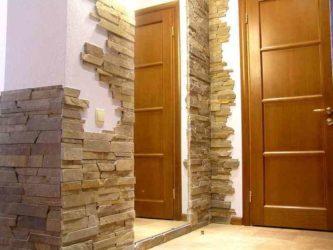 Декоративный камень в интерьере кухни: фото дизайна
