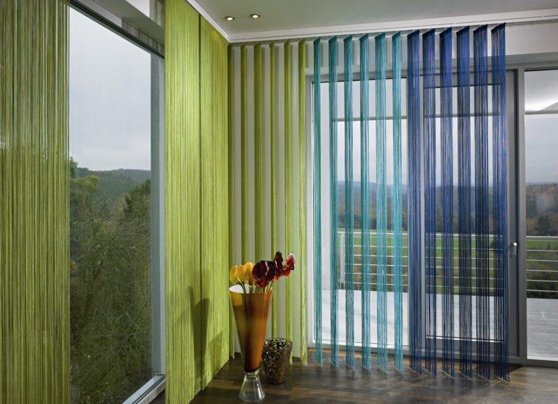 нитяные шторы в гостиную