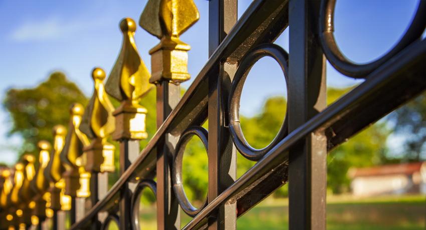 Кованые заборы — варианты красивых оформлений и конструкций металлических оград (95 фото)