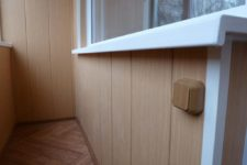 Отделка балкона мдф-панелями