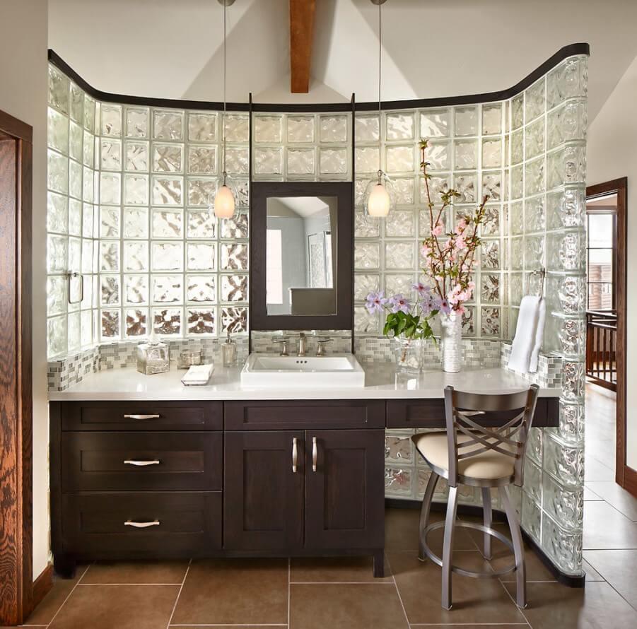 Душевая кабина из стеклоблоков (39 фото): варианты для маленькой ванной, угловые и прочие модели в интерере