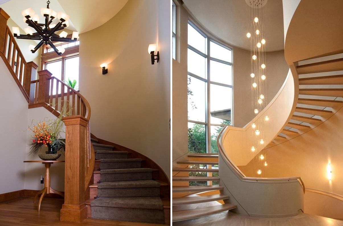светильники для лестницы в доме
