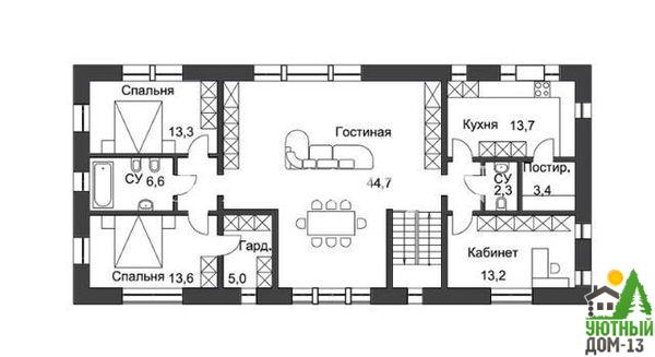 размеры спальни в частном доме