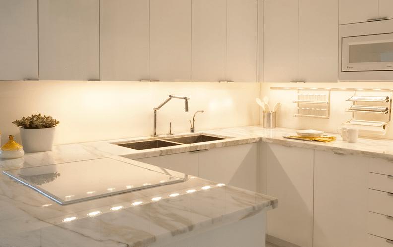 кухонный светильник над столешницей светодиодный