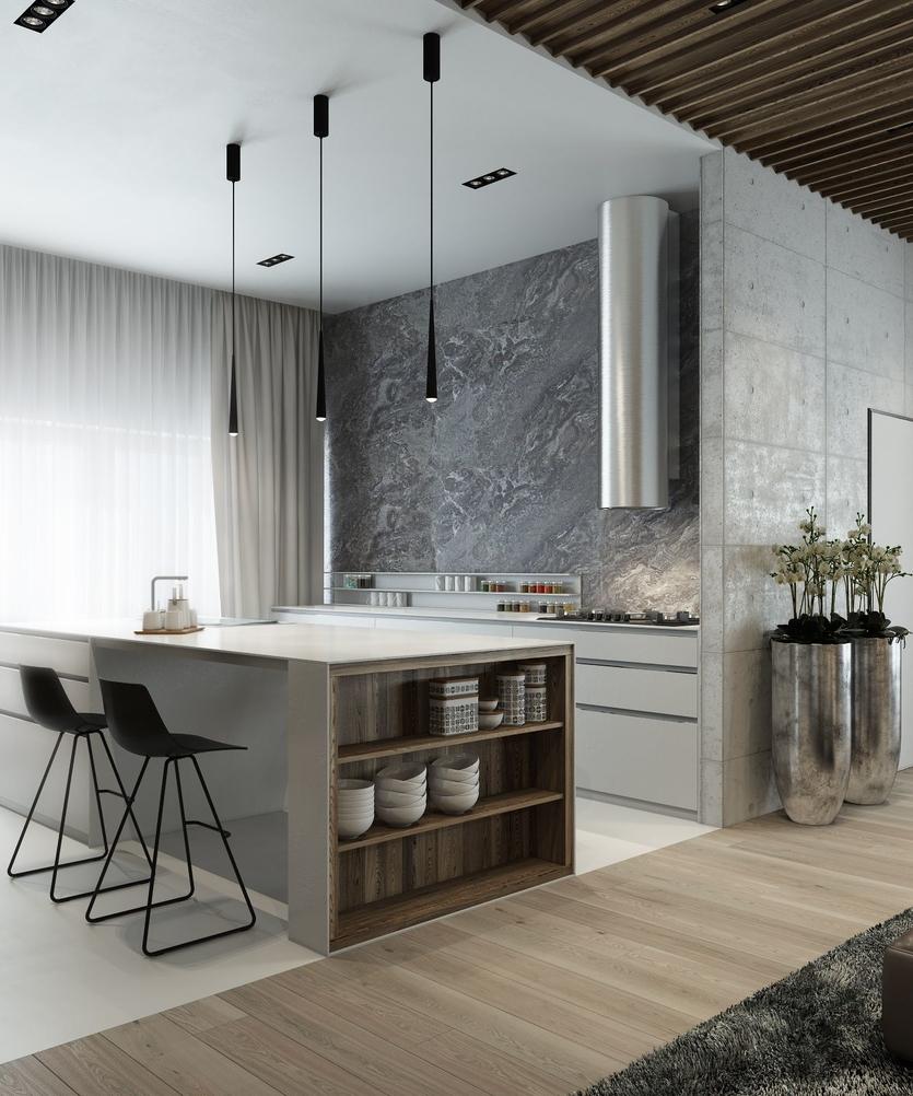 Кухня в стиле модерн: идеи дизайна (80 фото)