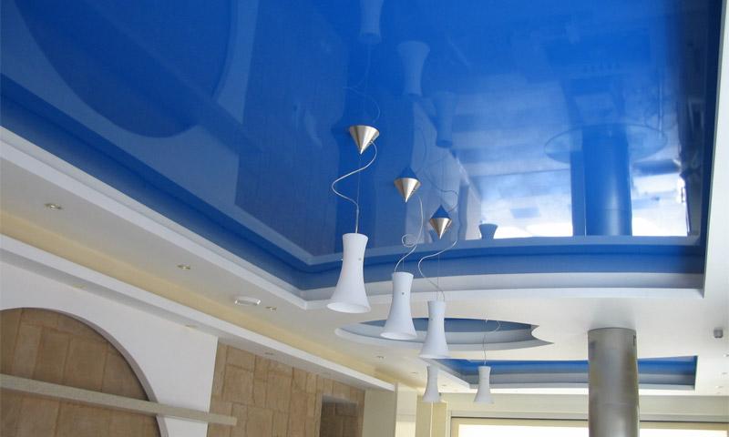 натяжные потолки в интерьере