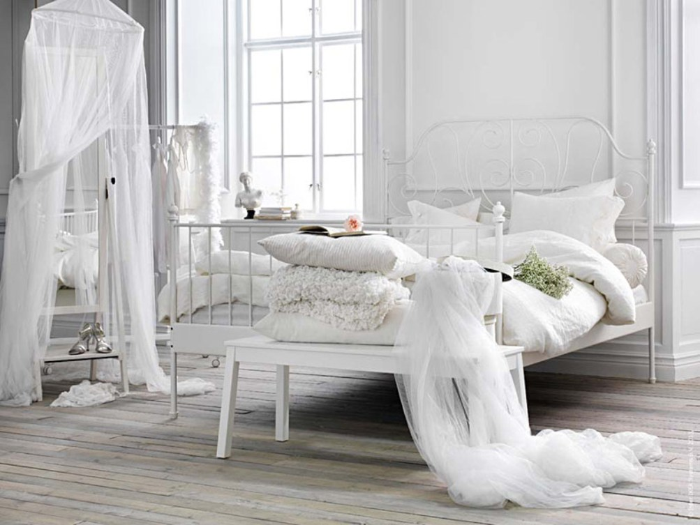 железная кровать икеа