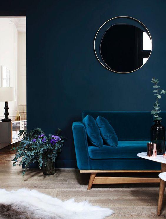Цвет индиго (77 фото): интерьер цвета тайны - «декор»