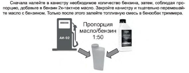 Масло для триммера: соотношение бензина, двухтактных двигателей, пропорция, как развести, разбавить, таблица