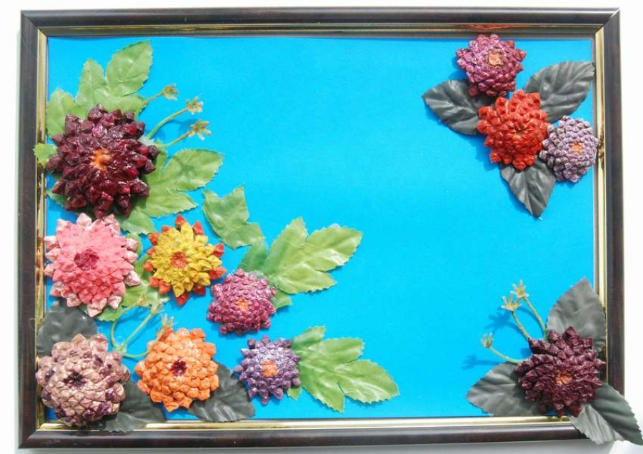 картина из листьев в детский сад