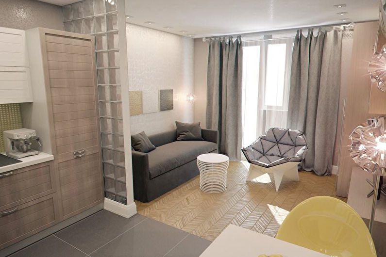 Планировка квартиры-студии 24 кв. м. (82 фото): дизайн-интерьер, кухня и отделка