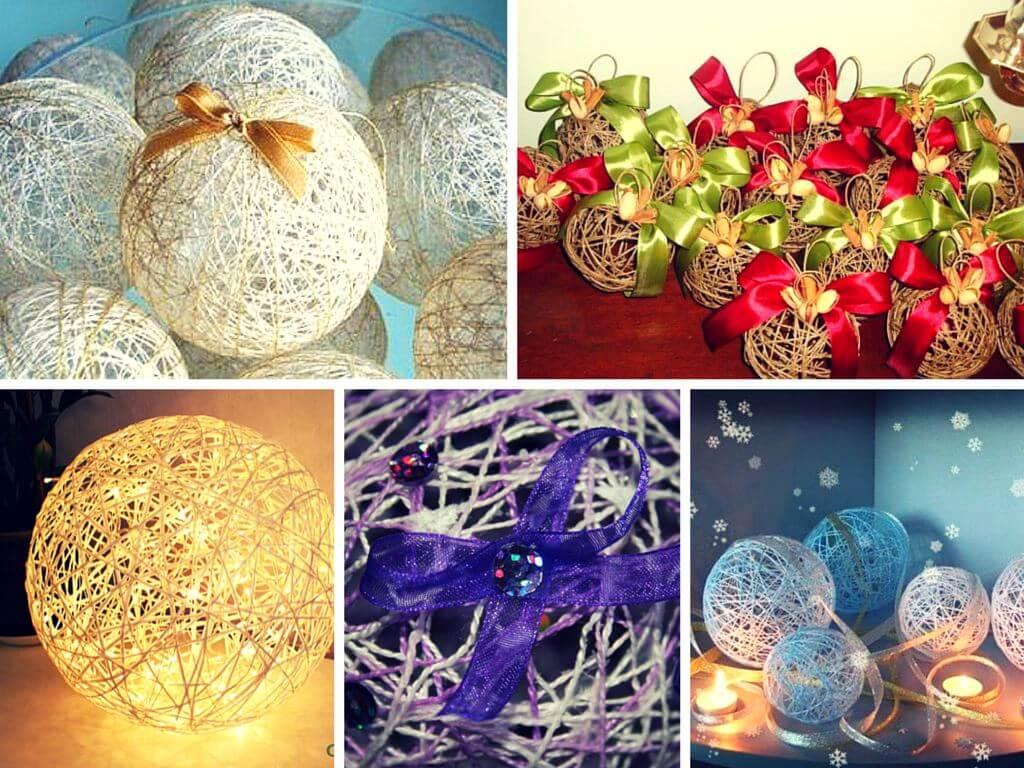 Создаем новогодние украшения из подручных материалов