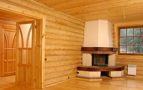 Дизайн бревенчатого дома внутри (17 фото)
