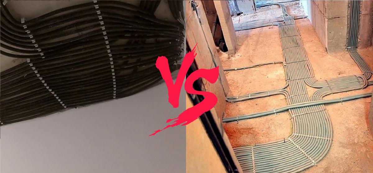Прокладка проводки по потолку - на что обращать внимание и какие ошибки наиболее распространены?