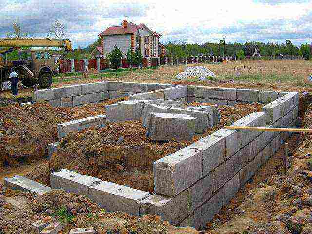 фундамент из газобетонных блоков