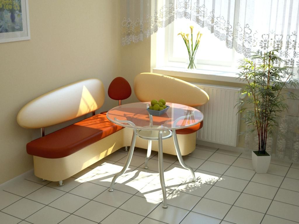 Маленький диван на кухню: 200+ (фото) как поставить?