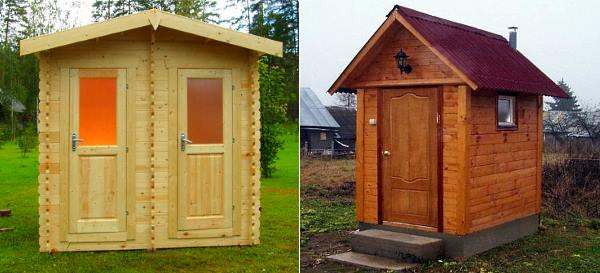 оригинальный туалет на даче