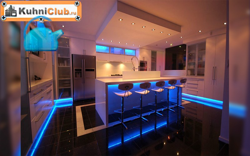 Светодиодная подсветка рабочей зоны для кухни: освещаем поверхность при помощи ленты на батарейках и аккумуляторах