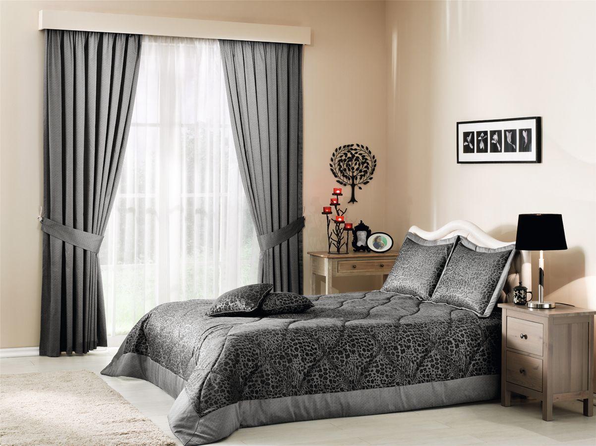 шторы в серо белую спальню