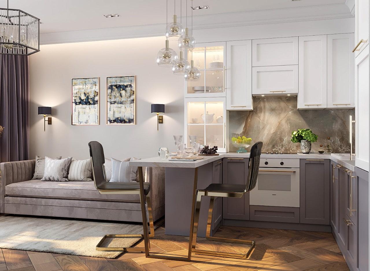 Дизайн кухни 16 кв м + 60 фото примеров интерьера
