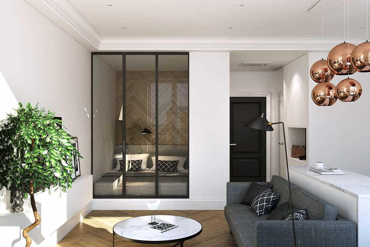 дизайн спальни гостиной 20 кв м