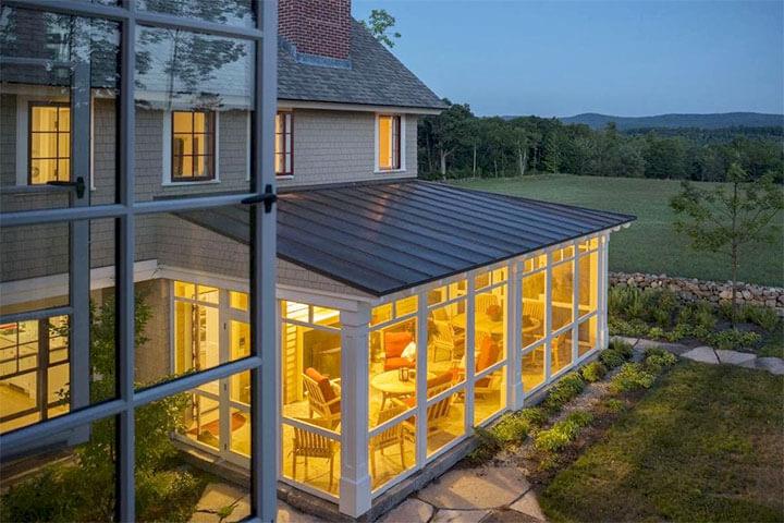 стеклянная терраса к дому
