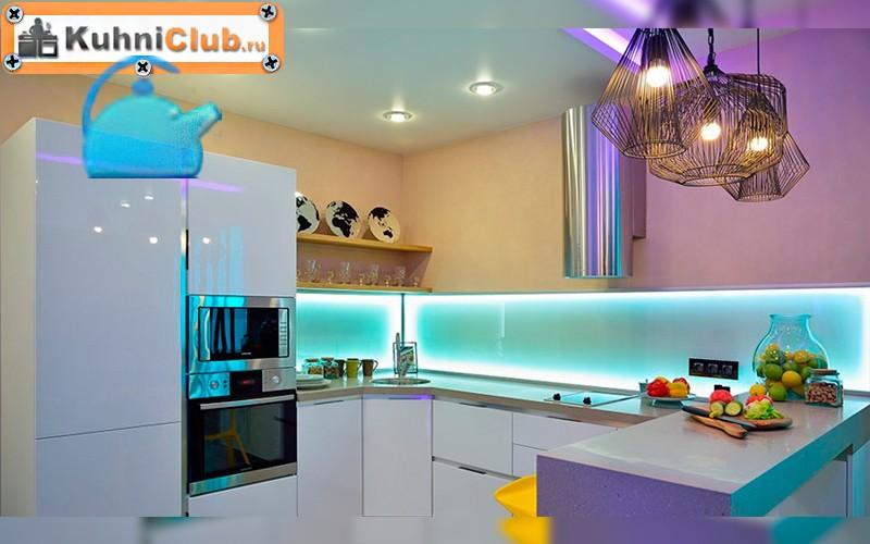 Подсветка рабочей зоны, фартука, шкафов на кухне