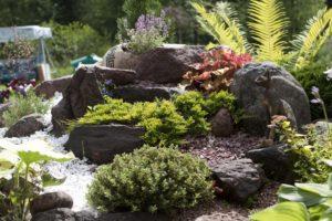 Альпийская горка с камнями на даче своими руками (82 фото): как сделать самому из подручных материалов, простые варианты в ландшафтном дизайне